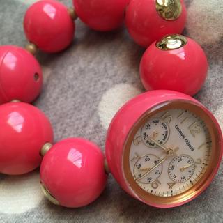 ツモリチサト(TSUMORI CHISATO)のツモリチサト ハッピーボール 時計 ピンク(腕時計)