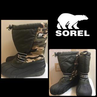 ソレル(SOREL)のSOREL カモフラージュ ロゴ スノーブーツ(ブーツ)