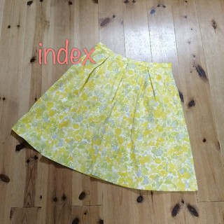 インデックス(INDEX)の【M】インデックス 花柄スカート(ひざ丈スカート)