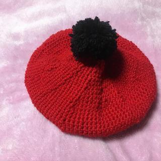 ベレー帽 子供用Sサイズ ハンドメイド(帽子)