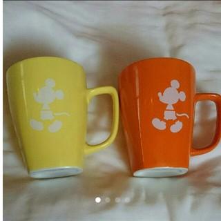 ディズニー(Disney)のミッキー マグカップ ペア(グラス/カップ)