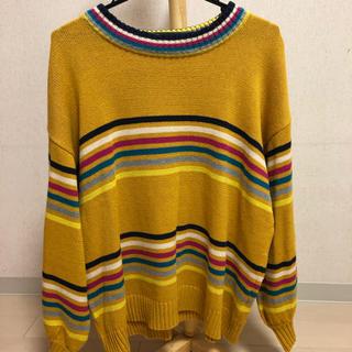 ダブルネーム(DOUBLE NAME)のラインセーター(ニット/セーター)