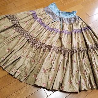 カネコイサオ(KANEKO ISAO)のワンダフルワールド 薔薇スカート(ロングスカート)