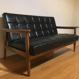 カリモクカグ(カリモク家具)のカリモク60 Kチェア 2シーター スタンダードブラック ソファー (三人掛けソファ)