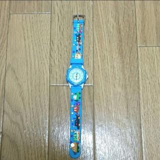 新品 子供 キッズ 腕時計  車 ブルー 未使用(腕時計)