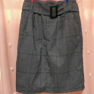 GU - チェックタイトスカート