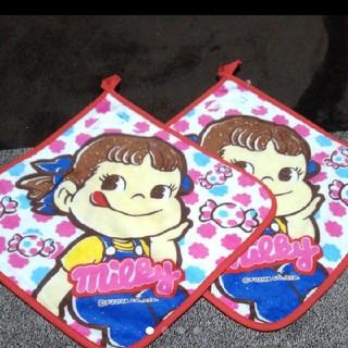 バンダイ(BANDAI)のmilky★ぺこちゃん ループ付きタオル 2枚セット(タオル)