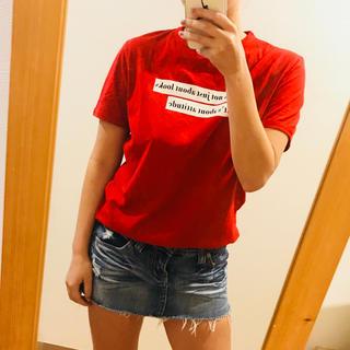 ZARA - ZARA Tシャツ 赤 レッド ザラ トップス 可愛い シンプル