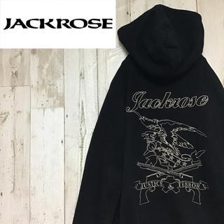 ジャックローズ(JACKROSE)の【ジャックローズ】【ダブルジップ】【ロゴ全刺繍】【パーカー】(パーカー)