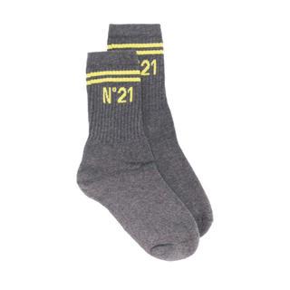 ヌメロヴェントゥーノ(N°21)の新品 N°21 ロゴ ソックス  靴下 M(ソックス)