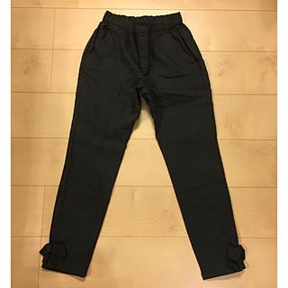 クチュールブローチ(Couture Brooch)の美品☆裏起毛 チェック 裾リボン パンツ XS(カジュアルパンツ)