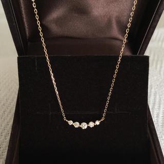 新品未使用⭐︎ 18金ダイヤモンドラインネックレス キラキラ0.3