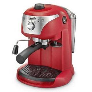 デロンギ(DeLonghi)のデロンギ エスプレッソ・カプチーノメーカー レッド  [EC221] (コーヒーメーカー)