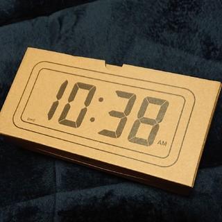 MUJI (無印良品) - ▼新品未開封▼ 無印良品デジタル時計・中 掛置時計/ホワイト