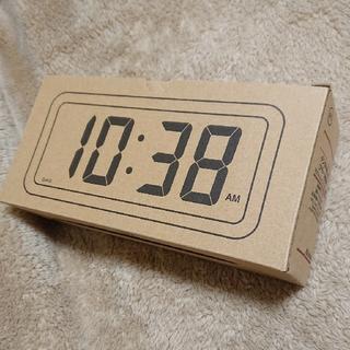 MUJI (無印良品) - ■新品未開封■ 無印良品デジタル時計・中 掛置時計/ホワイト