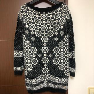 ジューシークチュール(Juicy Couture)の美品 ジューシークチュール モヘアワンピース 雪の結晶 XS(ミニワンピース)