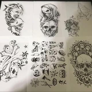 Tattoo flash 下絵 デザイン画A4サイズ30枚セットです! (その他)