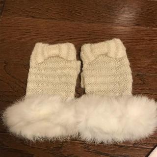 アンテプリマ(ANTEPRIMA)の【未使用】アンテプリマ 指なし手袋 ホワイト(手袋)
