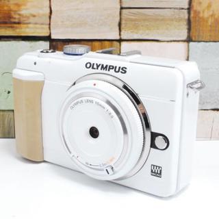オリンパス(OLYMPUS)の★可愛いホワイト★スマホ転送★OLYMPUS E-PL1s (ミラーレス一眼)