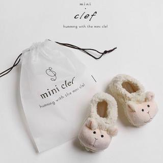 韓国買い付け品 もこもこ羊 ベビーシューズ ルームシューズ ベビー靴 ベビー(その他)