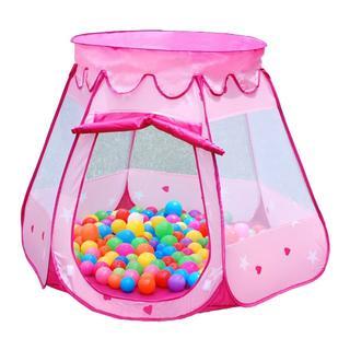 【大人気】キッズテント ボールハウス 折りたたみ式 (ピンク)(ボール)