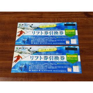 鷲ヶ岳スキー場★リフト1日券引換券2枚セット★送料込(ウィンタースポーツ)