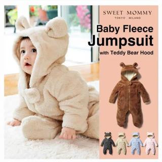 ベビー服 Sweet Mommy オーガニックコットン くまさんジャンプスーツ