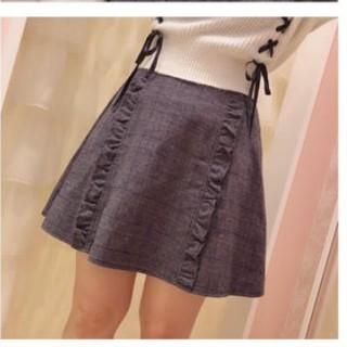 ハニーシナモン(Honey Cinnamon)のHoney Cinnamon Plaid Frill Flare Skirt(ミニスカート)
