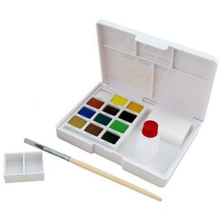 サクラクレパス 絵の具 固形水彩 プチカラー 12色 (その他)