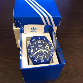 adidas - アディダス 腕時計 ラバー クロノグラフ ブルー 防水