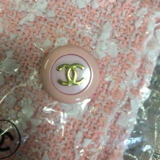 CHANEL - シャネル  正規品 未使用 ピンク ボタン ツイード生地 セット ピンク レア