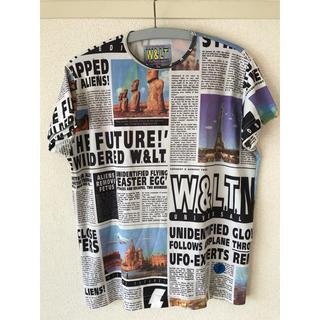 ウォルターヴァンベイレンドンク(Walter Van Beirendonck)のW&LT カットソー ニュースペーパー(Tシャツ/カットソー(半袖/袖なし))