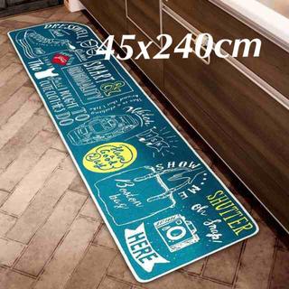 45x240cm キッチンマット-ドレス・スマート ブルックリン フロアマット(キッチンマット)