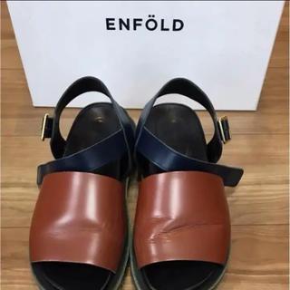 エンフォルド(ENFOLD)のENFOLD サンダル 定価¥43000 サイズ37(サンダル)