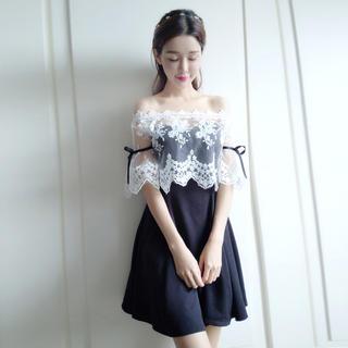 a7e0a9db3a55b ジルスチュアート(JILLSTUART)の大人気!刺繍 レース ショール セット パーティー ドレス M(