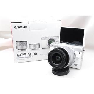 Canon - ♡WiFi&自撮り&大人気♡Canon EOS M100 レンズキットホワイト