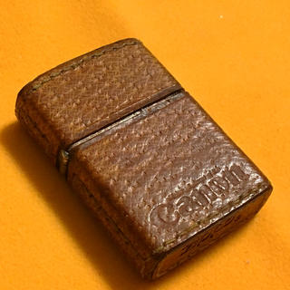 ジッポー(ZIPPO)のZIPPO 珍品 CANON 革巻きビンテージ(タバコグッズ)