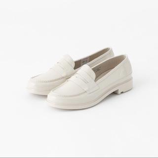 ハンター(HUNTER)の【美品】HUNTER レインシューズ ホワイト(レインブーツ/長靴)