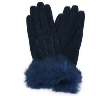 クーコ(COOCO)のクーコ ラビットファー付豚革手袋(手袋)