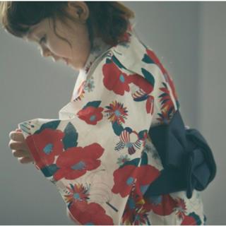 キャラメルベビー&チャイルド(Caramel baby&child )の 未使用品 MARL MARL 浴衣 tsubaki(甚平/浴衣)