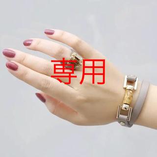 校閲ガール 石原さとみ着用 Ane Mone ベルト風レザーワイドリング(リング(指輪))