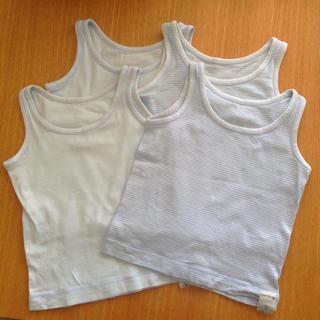 ムジルシリョウヒン(MUJI (無印良品))の無印良品 肌着 4枚セット 100(下着)
