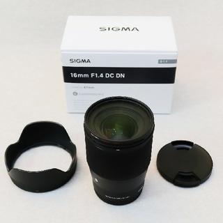 SIGMA - 今週のみ‼️美品 SIGMA 16mm F1.4 DC DN Eマウント