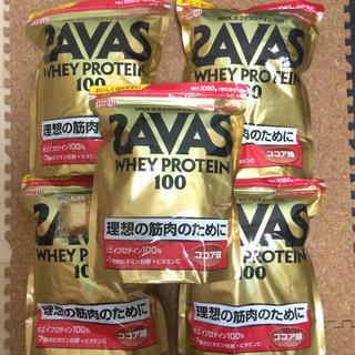 ザバス(SAVAS)の送料込み ザバス   ホエイプロテインココア 5袋(プロテイン)