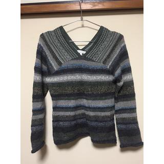 クーカイ(KOOKAI)のクーカイ Vネック ニット セーター カーキ(ニット/セーター)