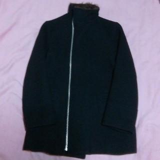 スナオクワハラ(sunaokuwahara)のスナオクワハラ woolコート ブラック(ロングコート)