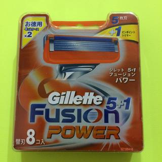 ジレ(gilet)のジレット フュージョン 5+1 パワー 替刃8個入(メンズシェーバー)