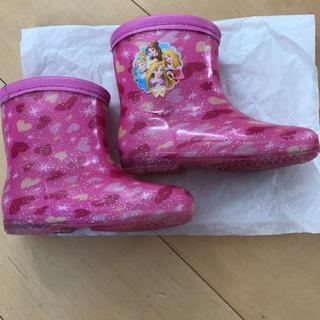 ディズニー プリンセス ハート柄 長靴 15センチ(長靴/レインシューズ)