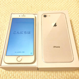 Apple -  SIMフリー iPhone 8  silver 64 GB