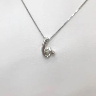 ジュエリーマキ(ジュエリーマキ)のネックレス ジュエリーマキ Pt850 ダイヤ付き 18-3816(ネックレス)
